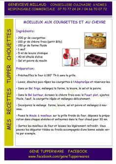 Tupperware - Moelleux aux courgettes et au chèvre