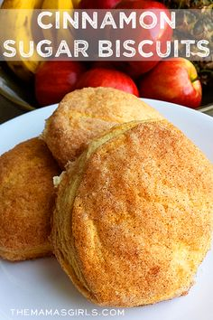 Cinnamon Sugar Biscuits--use low fat biscuit dough, brown sugar, and honey, maybe even a little fat free cream cheese inside