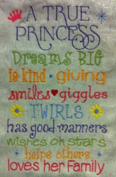 A True Princess 6x10 by VickiLynnsStitchArt on Etsy