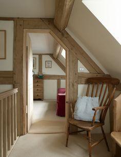 Oak frame with door #oak #landing