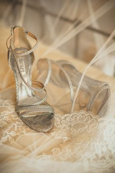 Adaumont Farm wedding, Trinity, NC. Wedding Details. Bridal shoes and lace veil. Wedding photography by Charleston husband & wife wedding photographers @billiejojeremy.   #northcarolinaweddings #northcarolinaweddingphotographers #southernweddings #adaumontfarmweddings #weddingdetails