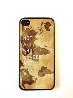 Not All Who Wander Are Lost iPhone 5c Case Fits iPhone 5c-Designer TPU Case Verizon AT&T Sprint -[ Pre ORDER - Ships Sept 25 ] on Etsy, $12.98