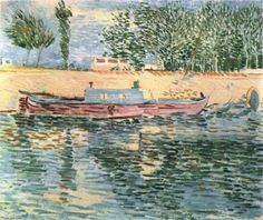 The Banks of the Seine with Boats - Vincent van Gogh