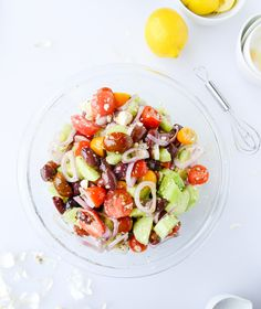 my favorite greek salad I howsweeteats.com