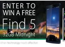 Here is the second Find5 free giveaway from OPPO - 32GB Midnight OPPO Find5 Smartphone.