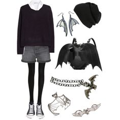 Bats by lululiv-1 on Polyvore featuring polyvore, fashion, style, MANGO, H&M, Calvin Klein Jeans, Wolford, Converse, Bernard Delettrez and BP.