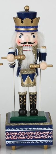 'We Wish You A Merry Christmas':: Animated Musical Wooden Nutcracker
