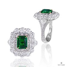 Introducing our collection of emerald that celebrates the excitement of life's most important moments. #setaré #highjewelry #emerald #diamond #ring #classic