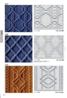 Kostenlose Anleitung für Zopfmuster zum Stricken Muster Книга:«Knitting Pattern Book 260 by Hitomi Shida Cable Knitting Patterns, Knitting Stiches, Knitting Charts, Knitting Designs, Knit Patterns, Knitting Projects, Crochet Stitches, Stitch Patterns, Knit Crochet