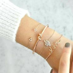 docona Gold Color Cactus Letter Knot Bracelet Bohemian Geometric Metal Chain Bracelet Statement Jewelry 6116 - Bracelets Tutorials - Real Time - Diet, Exercise, Fitness, Finance You for Healthy articles ideas Bohemian Bracelets, Cute Bracelets, Bangle Bracelets, Diamond Bracelets, Silver Bracelets, Stackable Bracelets, Simple Bracelets, Bohemian Jewelry, Indian Jewelry