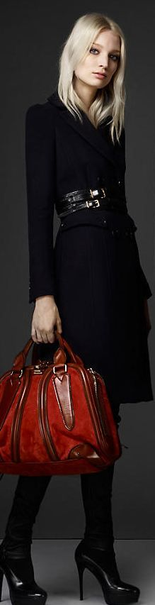 Wool Blend Military Coat - Burberry And that awesome bag! I want it