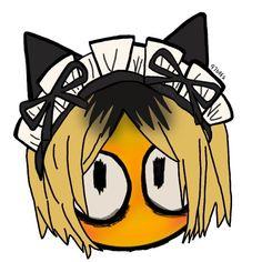 Emoji Drawings, Arte Do Kawaii, Kenma Kozume, Kuroken, Cute Emoji, Funny Emoji, Funny Anime Pics, Anime Stickers, Cute Icons