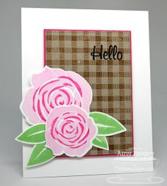 Contemporary Roses; Textile Backgrounds; Contemporary Roses Die-namics; Pierced Rectangle STAX Die-namics - Amy Rysavy