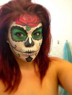 Sugar skull Halloween make up