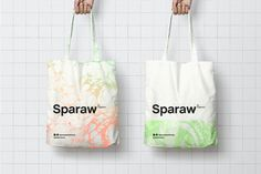 Designed by Buenos Ares-based this fresh branding and packaging concept is perfect for Sparaw, a juice and vegan food brand.