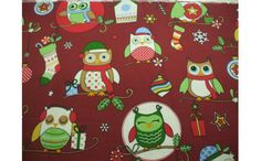 Owls Christmas Oilcloth Tablecloth