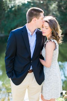 Timeless engagement photo outfit