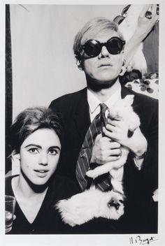 Edie Sedgwick, Andy Warhol & bunny rabbit
