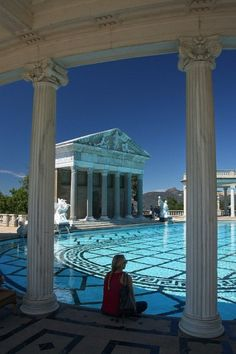 Neptune Pool, Hearst Castle, San Simeon, California extraordinary swimming pools