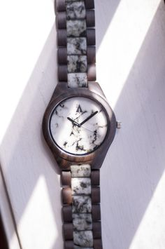 All Wood Watch // Ivory Marble   #marble #wiodwatch #treehut