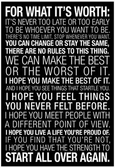 For What It's Worth Quote (Black) Motivational Poster Collections Poster Print, For What It's Worth, Love Your Enemies, Worth Quotes, This Is Your Life, Psychology Quotes, No Kidding, Motivational Posters, Quote Posters, Never Too Late