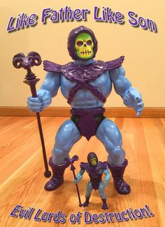 Giant custom Skeletor action figure by Joe Amato & Tom Ace.