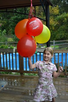 Birthday traditions. This one is my favorite: Blow up one balloon for every year of age and put a dollar in the balloon before you tie the knot. This would cure my kids of wanting to keep their balloons for weeks and then getting depressed when they deflate.