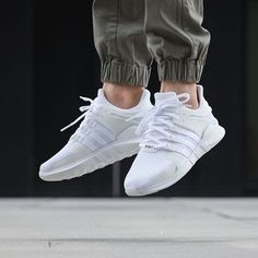 best deals on footwear super cute A Review On Feet: Adidas Boost EQT Support 93 17 White/Turbo