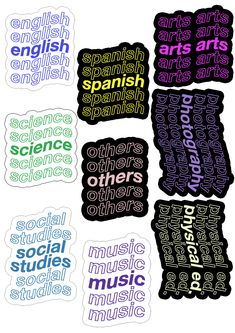 Preppy Stickers, Pop Stickers, Tumblr Stickers, Printable Stickers, Life Hacks For School, School Study Tips, Collage Mural, Homemade Stickers, Good Notes