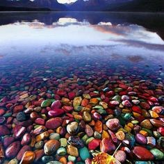 Pebble Shore. #pebbles #shore #pebbleshorelake #glaciernationalpark #park #montana #unitedstates #beautiful #stunning #amazing #follow #follow4follow #like4like #nature #greatoutdoorsadventure #vaca #vacaciones