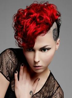 Punk Girl Hair Color Ideas 2012 - Perk up your look by embracing some of these Punk hair color ideas. Turn yourself into a real style chameleon with these cutting edge hair designs. Punk Girl Hair, Punk Hair Color, Short Punk Hair, Girl Hair Colors, Hair Colours, Punk Girls, Funky Hairstyles, Protective Hairstyles, Hairstyles Haircuts