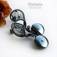 Fantazje z hematytem Biżuteria Kolczyki Alabama