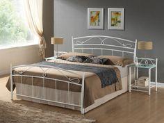 Manželská posteľ Signal - Siena  Vkusná posteľ s romantickým nádychom v retro štýle.