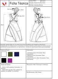 Ficha técnica Casaco Assimétrico | Técnicas de desenho