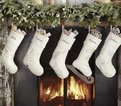 All That Glitters Stocking Collection | Pottery Barn Kids Ice Skate Stocking