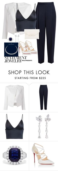 """""""#PolyPresents: Statement Jewelry"""" by maria-canas ❤ liked on Polyvore featuring Plein Sud Jeanius, The Row, T By Alexander Wang, Anyallerie, Effy Jewelry, Christian Louboutin, Harry Winston, Givenchy, contestentry and polyPresents"""