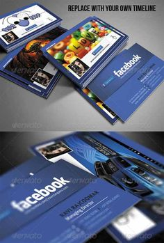 Basic social media business cards that boldly promotes twitter 10 free and premium facebook business card templates accmission Image collections