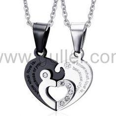 cb81ccd7cb Unique Couples Pendants Necklaces Jewelry Gift Set for 2   Couples ...