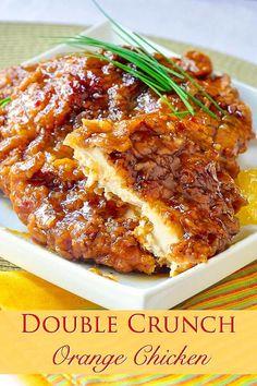 Crispy Orange Chicken Recipes, Garlic Chicken Recipes, Honey Garlic Chicken, Breaded Chicken, Crispy Chicken, Recipe Chicken, Butter Chicken, Healthy Chicken, Orange Chicken Breast Recipe