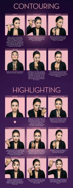 Contouring + Highlighting - #contouring #makeuptutorial #makeuptechniques #highlighting #anastasiabeverlyhills -  Love beauty? Go to bellashoot.com for beauty inspiration!