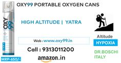 OXY99 Portable Oxygen CAN and Cylinder for High Altitude; Amarnath,Kedarnath, Vaishno Devi, Leh-Ladakh,Everest, Mountain Tour, Bikers, Hill Journey- Always Carry OXY99 - For - Heart, Breathing Problem due to low oxygen level in Altitude Yatra. ORDER Today at Amazon.in @ Rs. 650/CAN!! WEBSITE:- www.oxy99.in