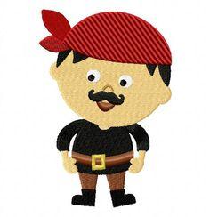 Mustache Pirate Boy - EmbroiderOcean Design