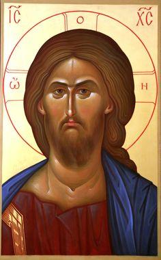 Christ the Savior icon Religious Icons, Religious Art, Orthodox Catholic, Christ Pantocrator, Romanesque Art, Russian Icons, Byzantine Icons, Art Icon, Orthodox Icons