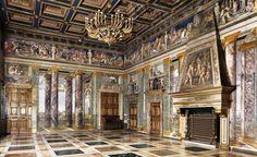 "thepaintinghasalifeofitsown: "" Villa Farnesina, Rome Frescoes are painted by Baldasare Peruzzi. """