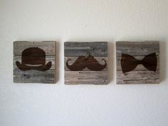 Weathered WoodThe Gentleman Collection by CraftHausLove on Etsy. Would be cute in a little boys room.