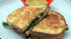 Egg-Battered Asparagus, Ham and Cheese Sandwiches