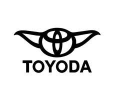 toyota yoda sticker | Toyoda Toyota Yoda Star Wars Vinyl Decal Sticker Window Glass Funny ...