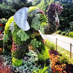 floral elephant in queen mary's gardens, regent's park, london