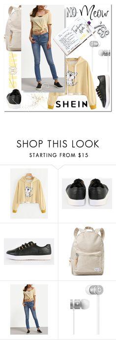 """""""SHEIN 6"""" by aidaaa1992 ❤ liked on Polyvore featuring Herschel Supply Co., Garance Doré and Beats by Dr. Dre"""