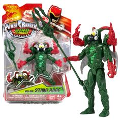 Bandai Year 2015 Saban's Power Rangers Dino Charge Series 5 Inch Tall Action Figure - Villain STING RAGE with Trident Spear